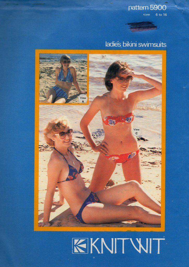 70s Womens Bikinis Vintage Sewing Pattern Knitwit 5900 Retro ...