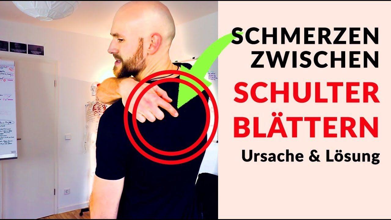 Schmerzen zwischen den Schulterblättern lösen - Ursache