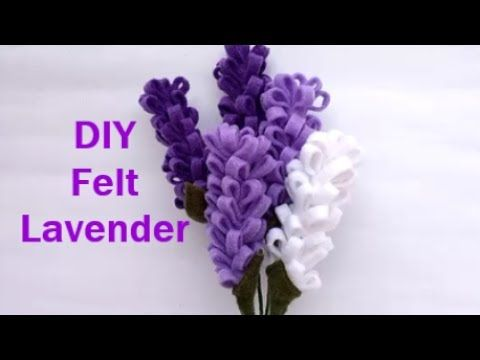 How To Make Felt Lavender Flower Tutorial Cara Membuat Bunga Flanel Felt Flowers Diy Felt Flower Bouquet Felt Flowers Patterns