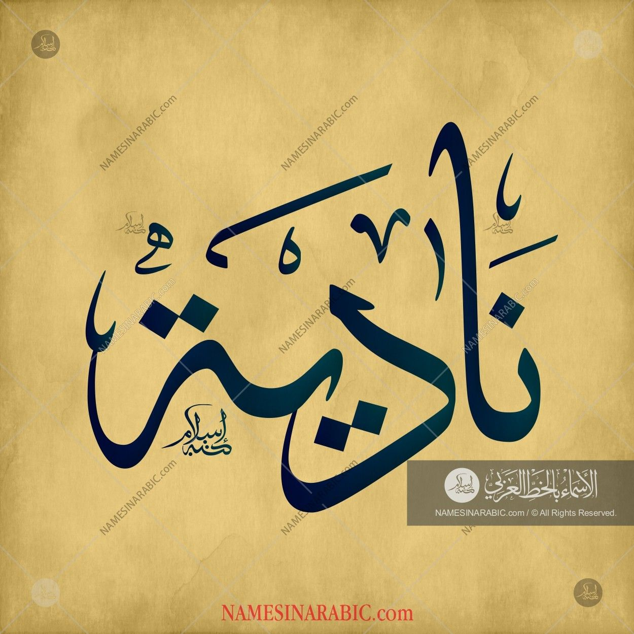 Nadia نادية Names In Arabic Calligraphy Name 1441 Calligraphy Name Arabic Calligraphy Design Hand Lettering Styles