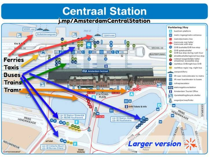 Amsterdam Centraal Station map Gardening Pinterest Central station