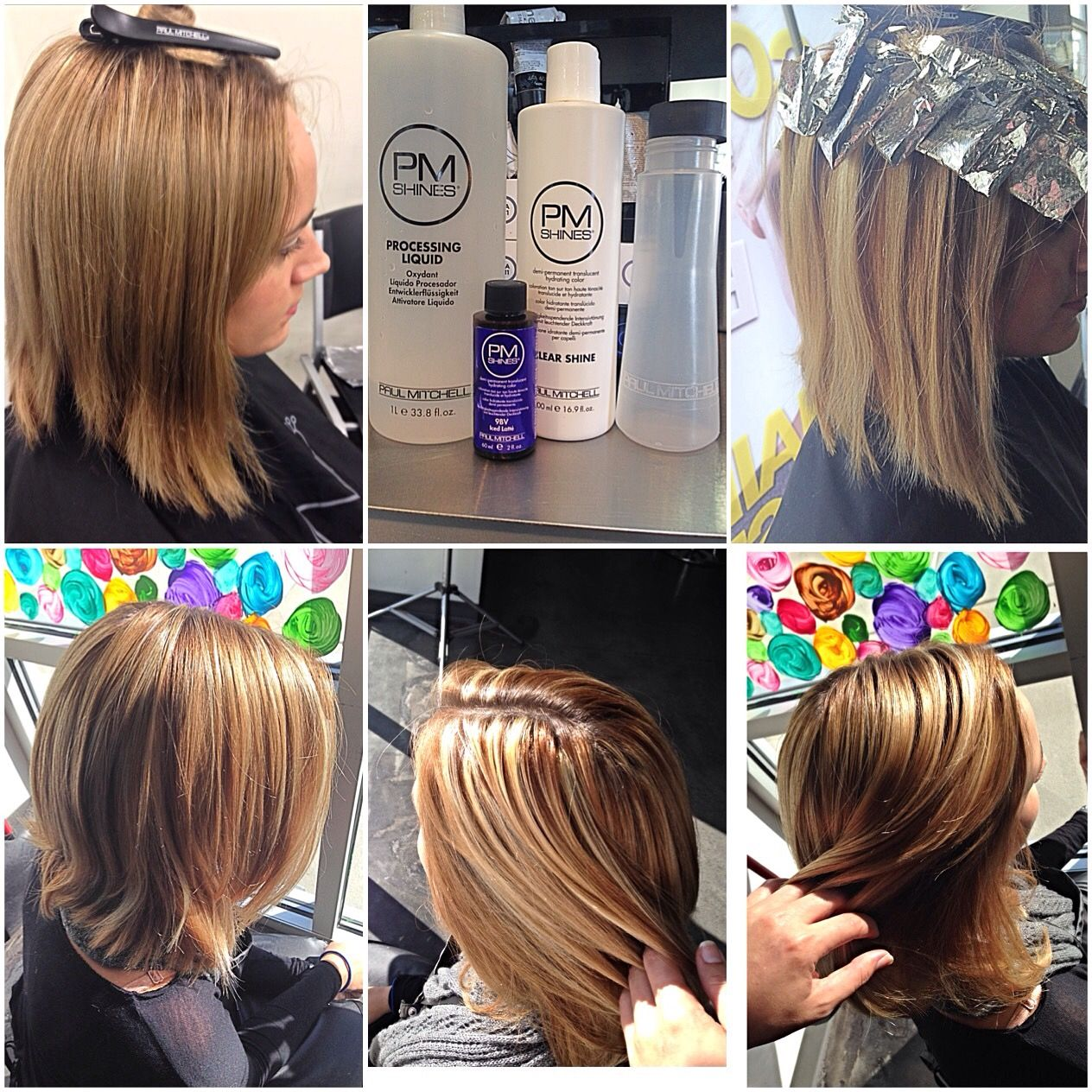 Diagnal Vertical Back Horseshoe With Paul Mitchell Synchro Lift And
