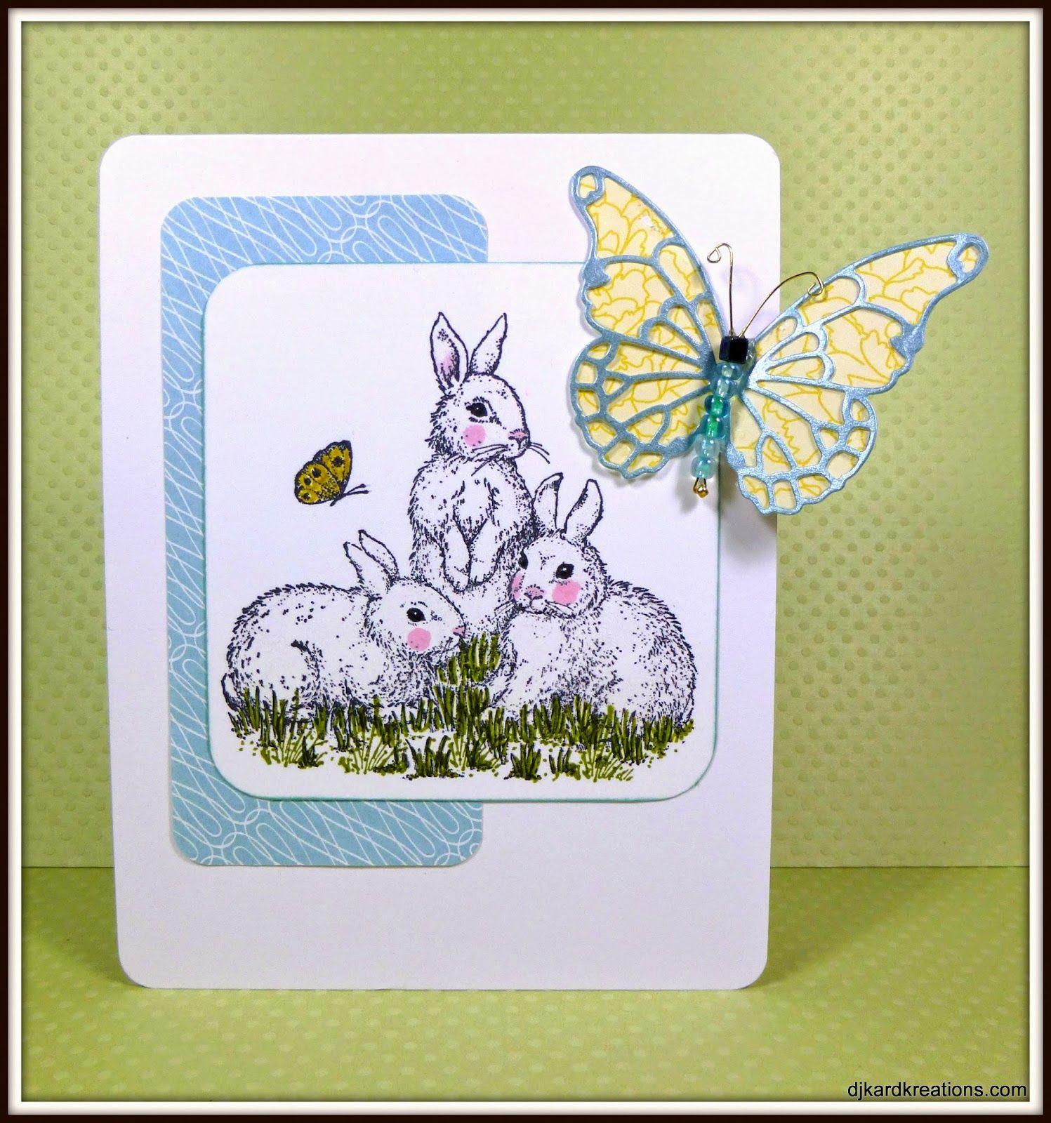 Bunnies and Butterflies By djkardkreations