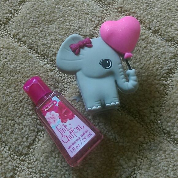 Pink Chiffon Hand Sanitizer Holder Nwt With Images
