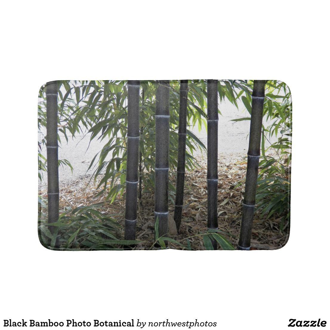 Black Bamboo Photo Botanical Bath Mat Zazzle Com Black Bamboo