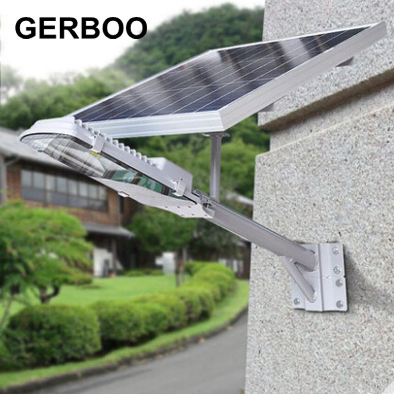 Solar Integrated Street Lamp 16v 12w Panel Led Outdoor Lighting With Timer