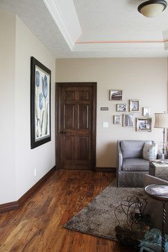 Interior Doors | Dark Stained Oak Traditional Interior Door Accented With  Blues And Greys In The