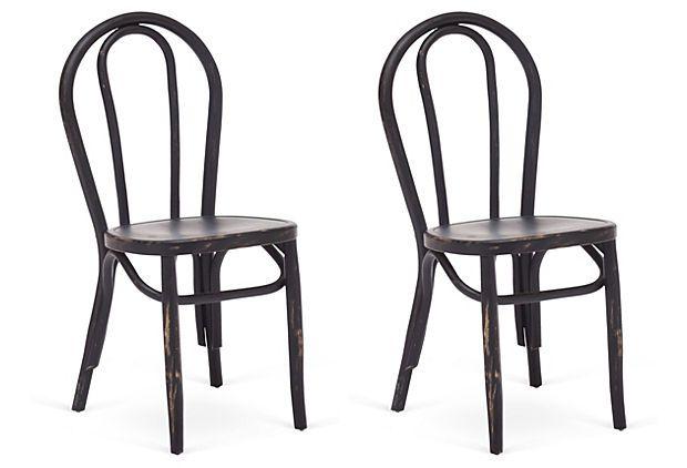 Black Nob Hill Chairs, Pair On OneKingsLane.com