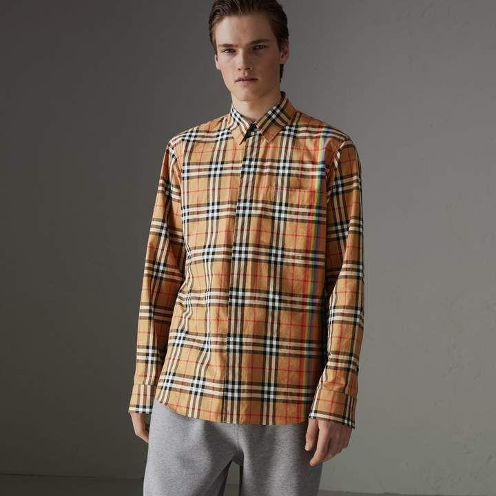 7fea955bdf51cb Burberry Rainbow Vintage Check Shirt | Products | Burberry, Check ...