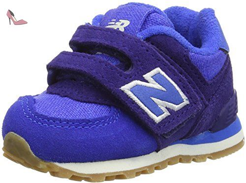 official photos 92918 2c02e New Balance 574 Hook and Loop, Sneakers Basses Mixte Enfant, Bleu (Blue)