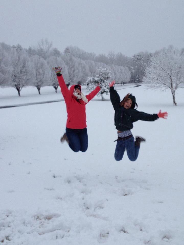 #snow #winter #bestfriends