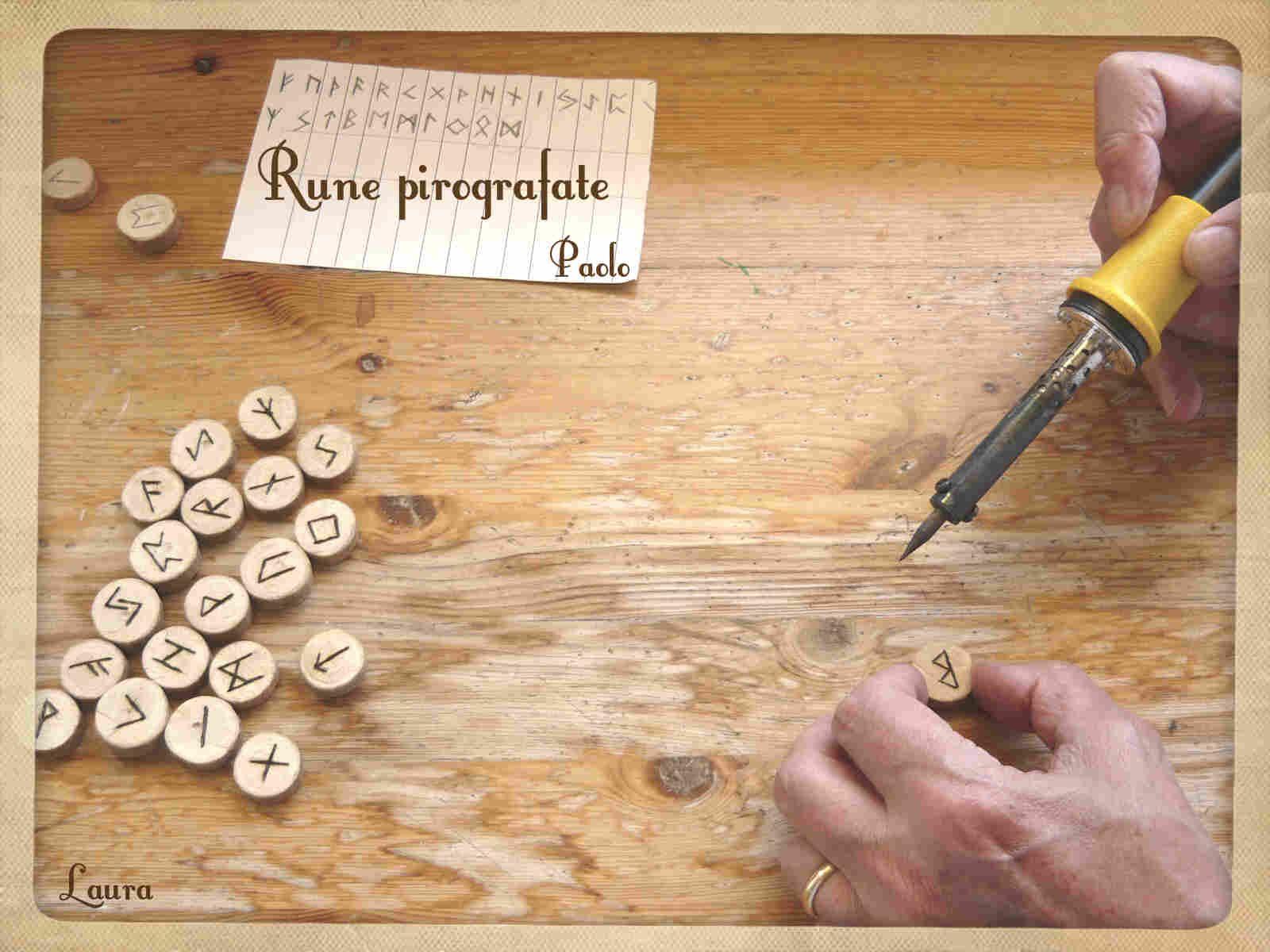 Rune di tiglio incise.