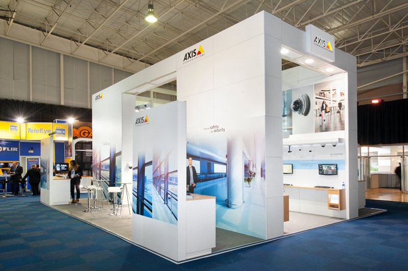 Custom Exhibition Stand Years : Axis communications custom exhibition stand m m ifsec south