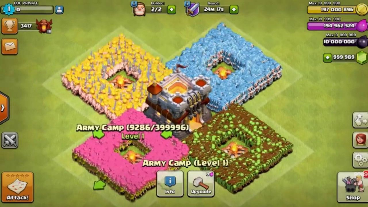 Fan Coc Hack Unlimited Troops On Android Device Clash Of Clans Private Server Http Padslet Com Che Clash Of Clans Hack Clash Of Clans Clash Of Clans Army