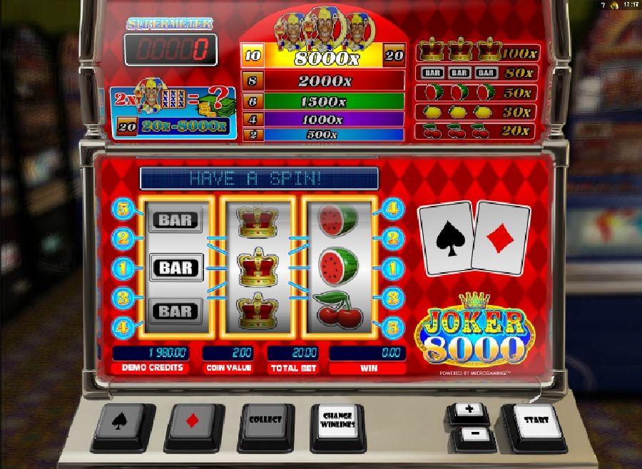Joker 8000 Casino slot games, Casino bonus, Casino