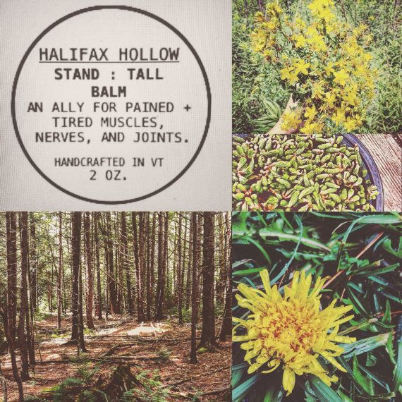Herbal Nerve Balm Stand Tall Balm Natural Skin by