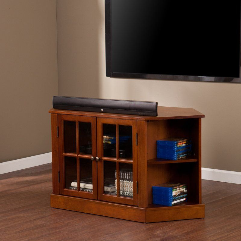 Lasalle Corner Tv Stand For Tvs Up To 50 Inches Corner Tv Corner Tv Cabinets Small Corner Tv Stand