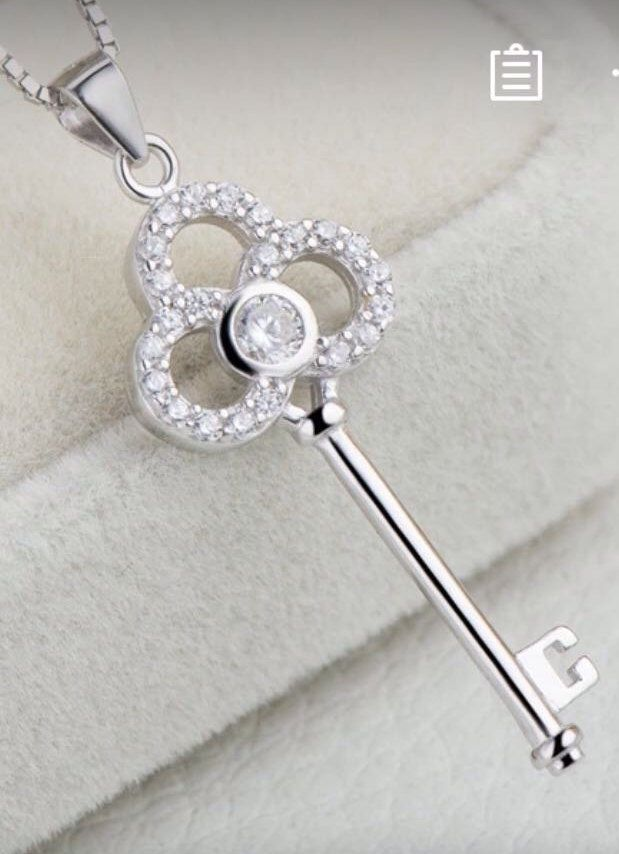 A personal favorite from my Etsy shop https://www.etsy.com/ca/listing/288886791/sterling-silver-key-pendant-necklace