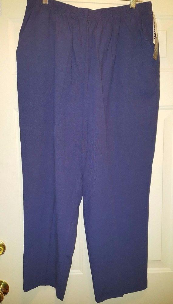 9cfc9259b90 Jeno Neuman NWT Woman s Plus Petite Blue Elastic Waist Pants Size 20WP   JenoNeuman  CasualPants