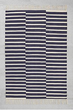 Offset Stripe 4x6 Rug in Navy from urbanoutfitters