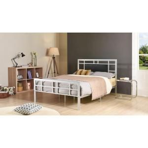 Hodedah Silver Queen Upholstered Bed Hi826 Q Silver The Home