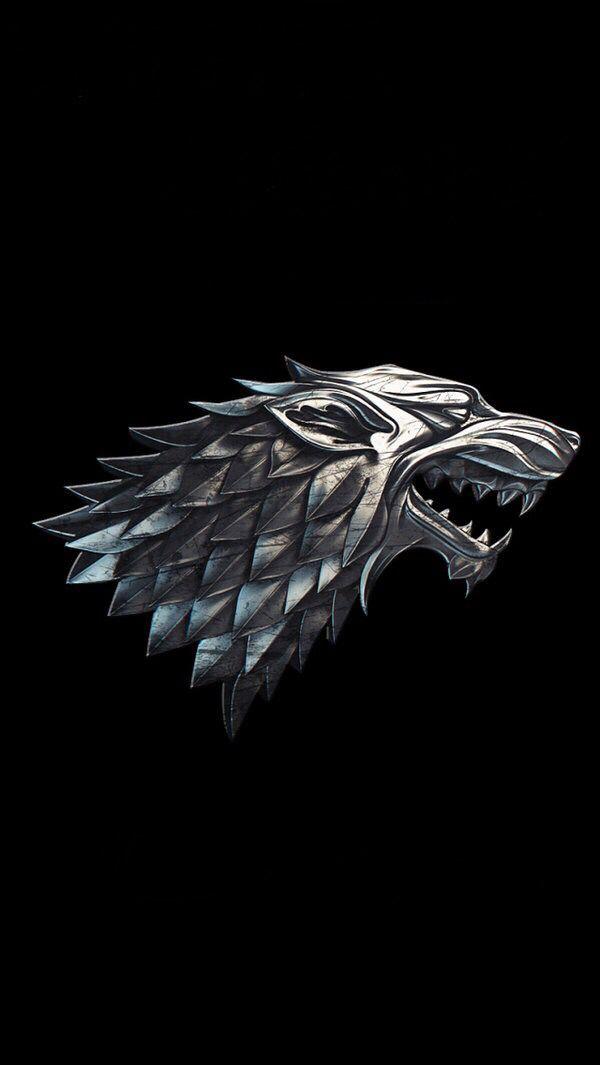 House Stark Gameofthrones Got Housestark Stark Iphonewallpaper Direwolf Wolf Game Of Thrones Tattoo Game Of Thrones Art House Stark