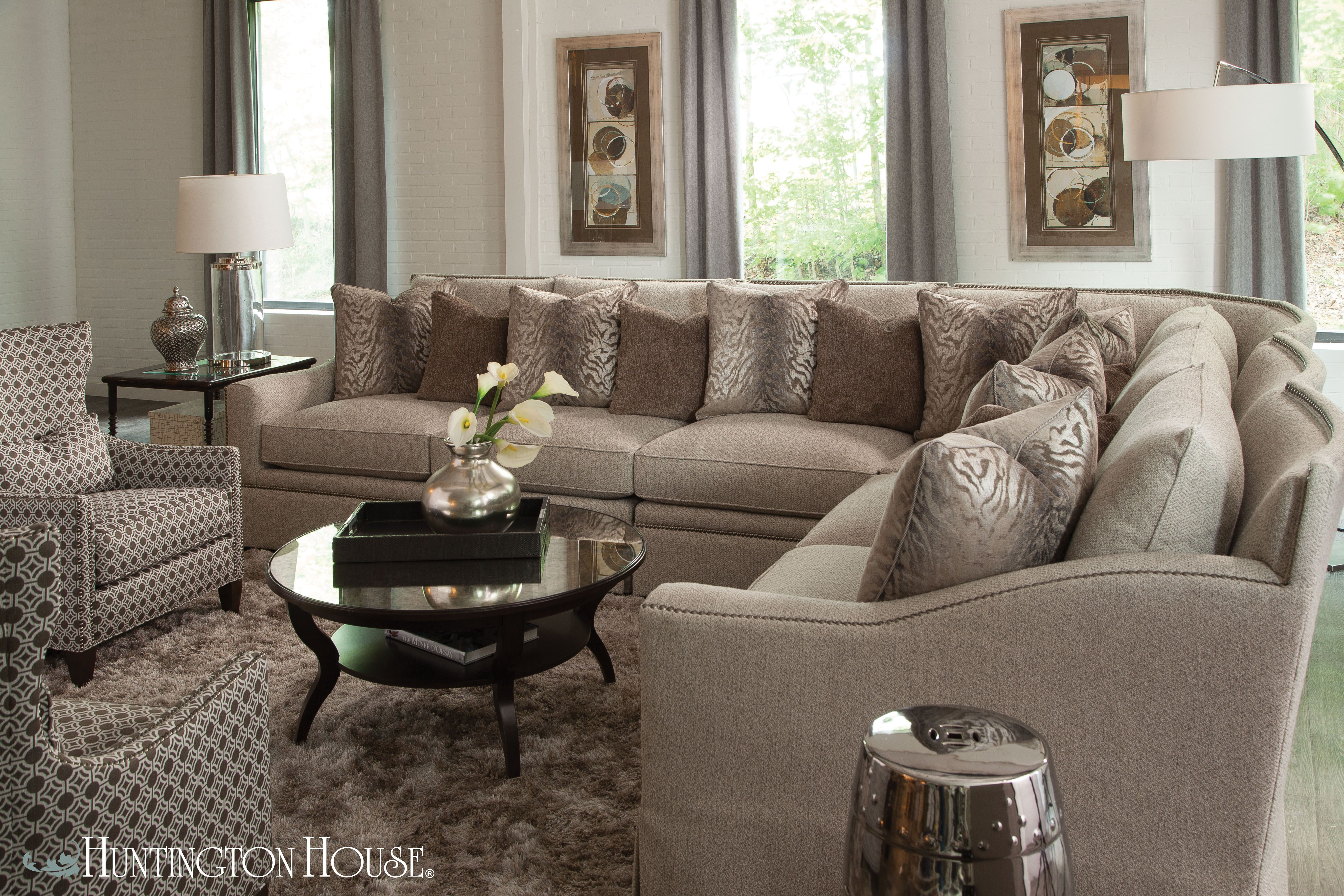 3366 sectional from Huntington House luxurious sink in fort
