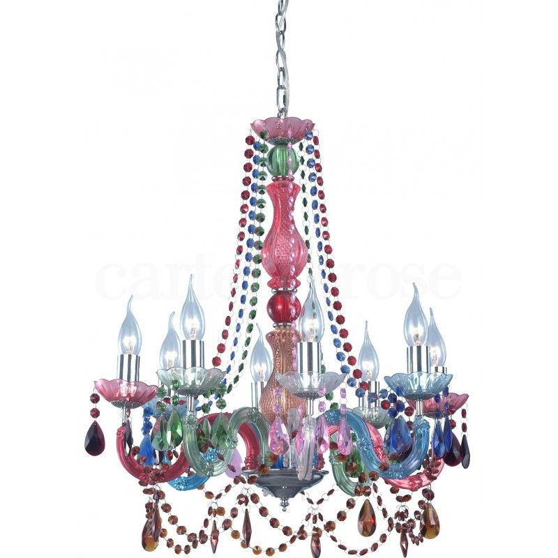 Rainbow Chandelier From Carter And Rose Uk Acrylic Chandelier
