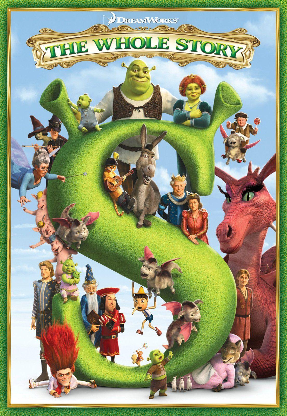 Dreamworks Shrek 1 2 3 Forever After Boxed Set Free Shipping Shrek El Nino Pelicula Peliculas De Disney