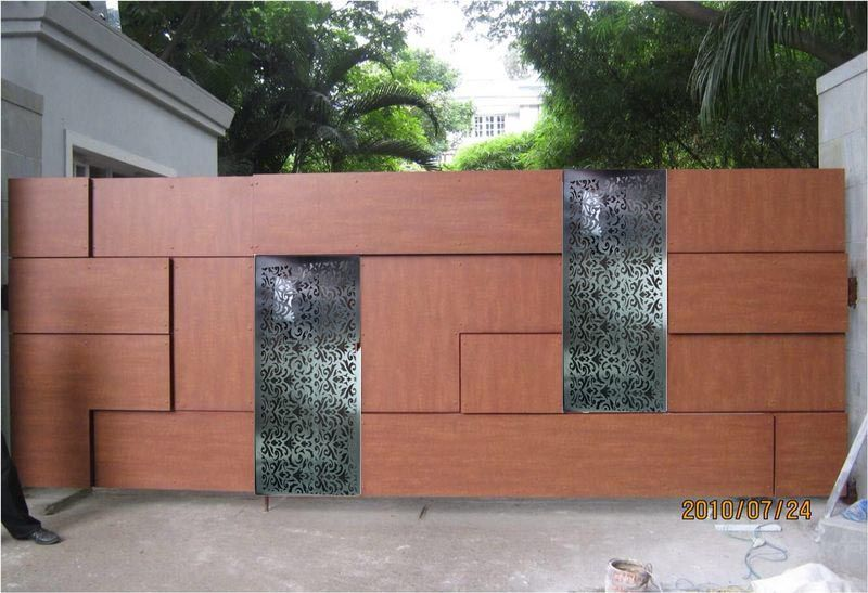 Gate In Combination Of Hpl Sheet And Laser In Metal Gate