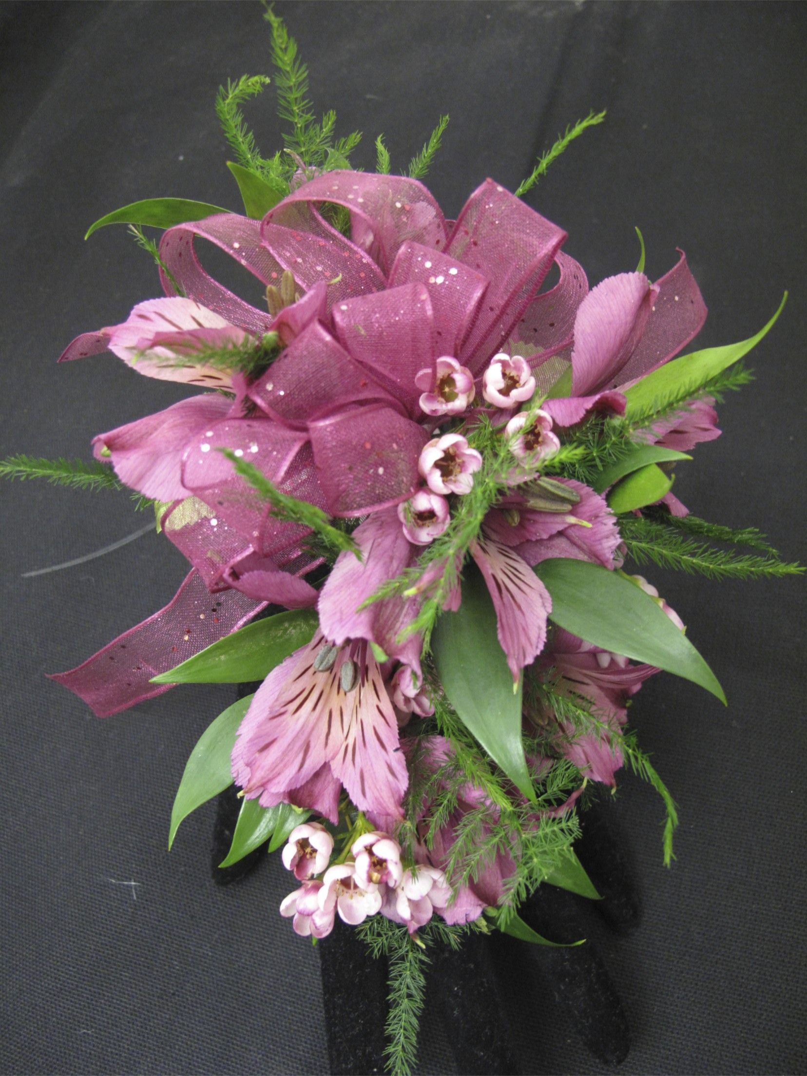 Alstroemeria Lily With Wax Flower Corsage For Prom