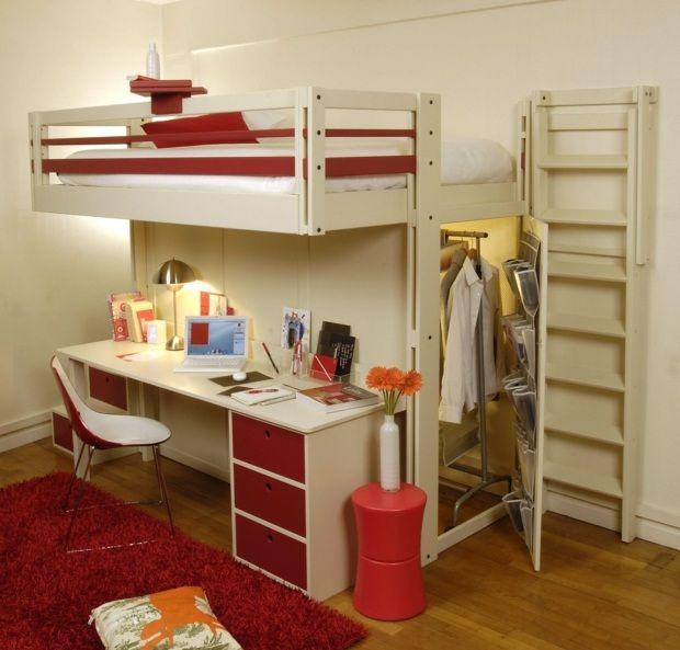 lit mezzanine la vedette de la chambre coucher lit en hauteur hauteur et armoires. Black Bedroom Furniture Sets. Home Design Ideas