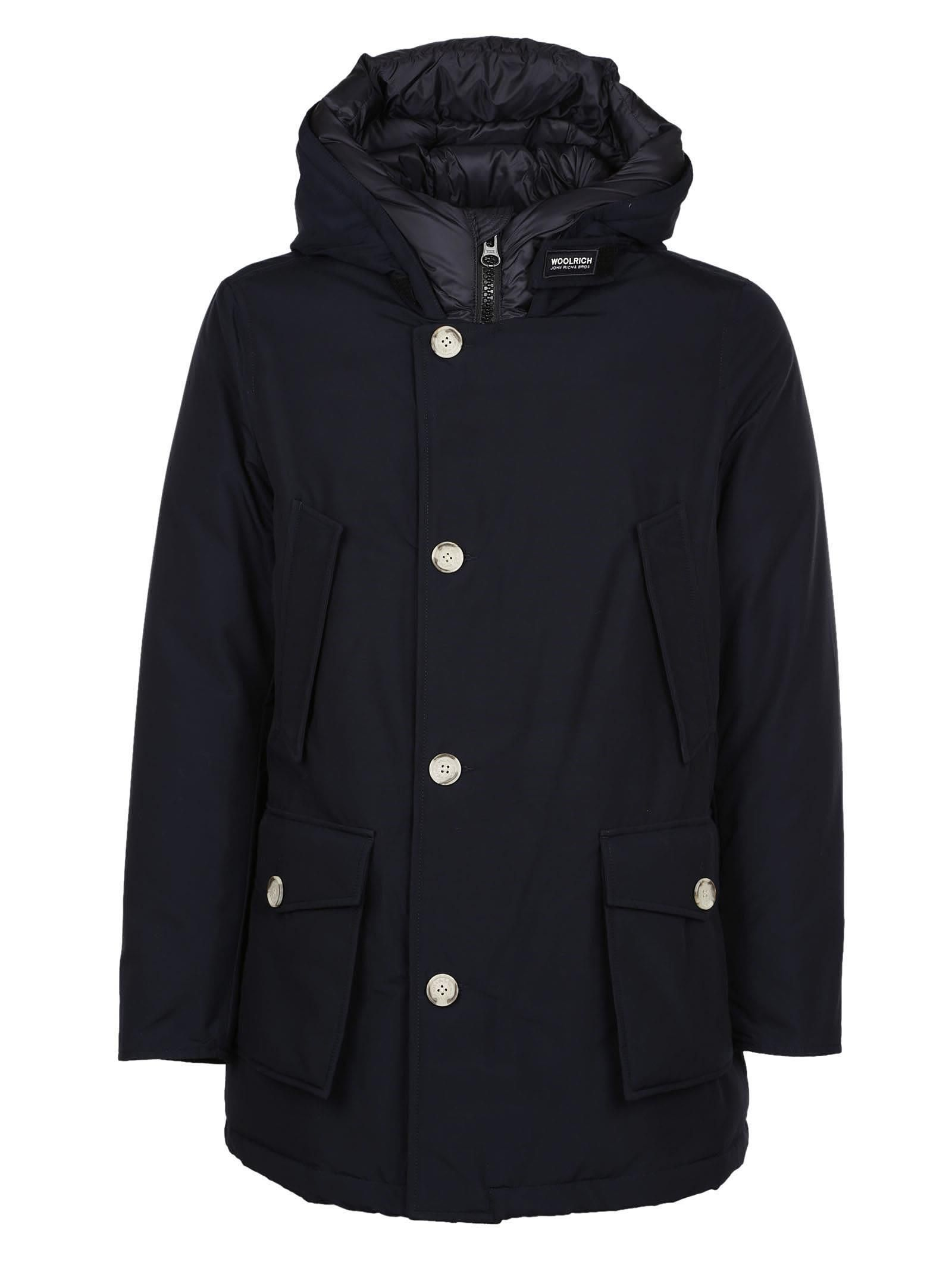 b4f6c9aa1 Woolrich Buttoned Hooded Coat