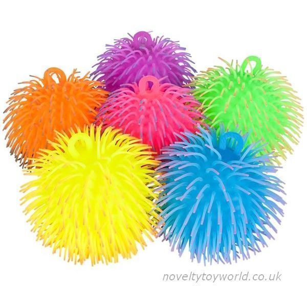 Two tone colour rubber puffer balls 16cm novelty puffer balls in assorted two tone colours a soft and squeezable sensory novelty measuring publicscrutiny Gallery