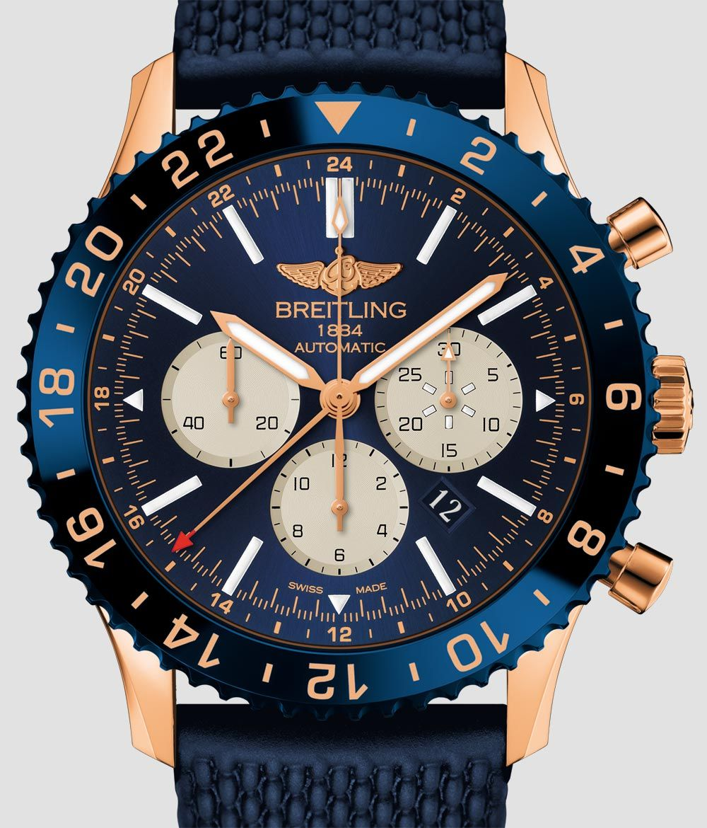 The BREITLING Chronoliner B04 in red-gold is limited to 250 pieces ... 7bd45bf78e7