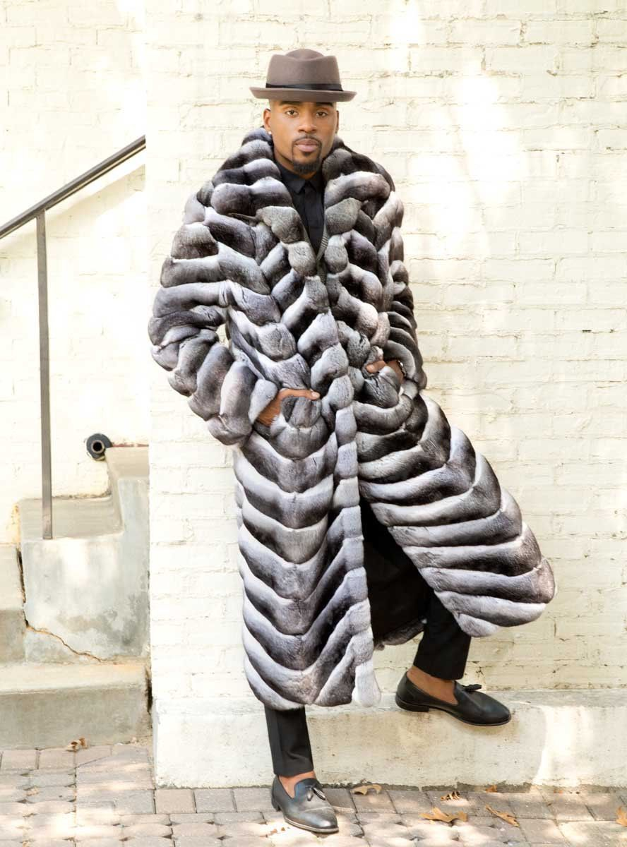 Mens chinchilla fur coat in 2020 chinchilla fur coat