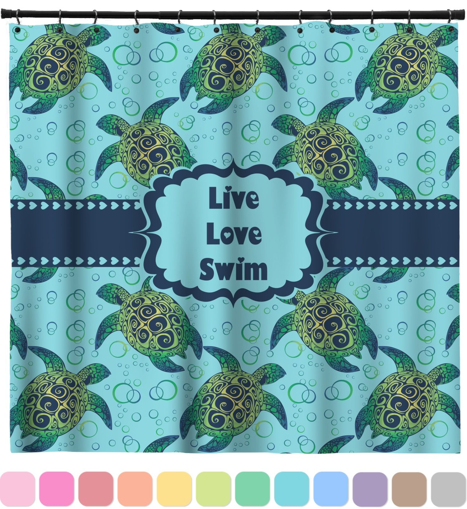 sea turtles shower curtain personalized baby toddler ninja turtle ...