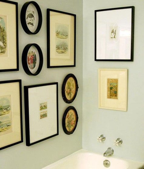 Picture Display Gallery Wall Bathroom Wall Wall