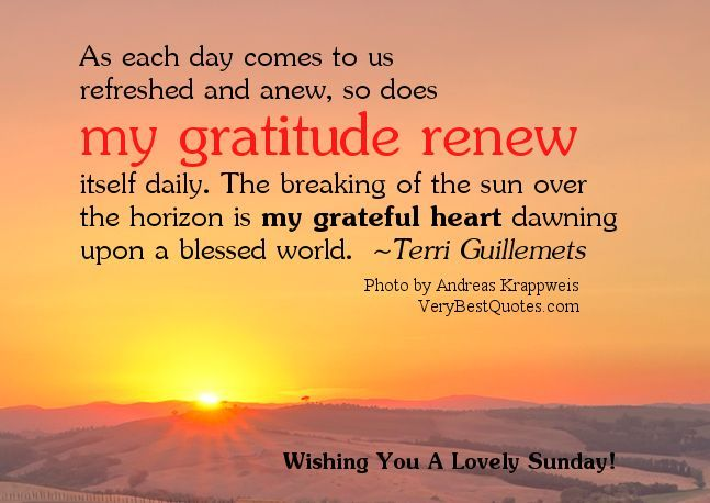 Good Night Quotes : Lovely Sunday Good Morning Quotes Gratitude