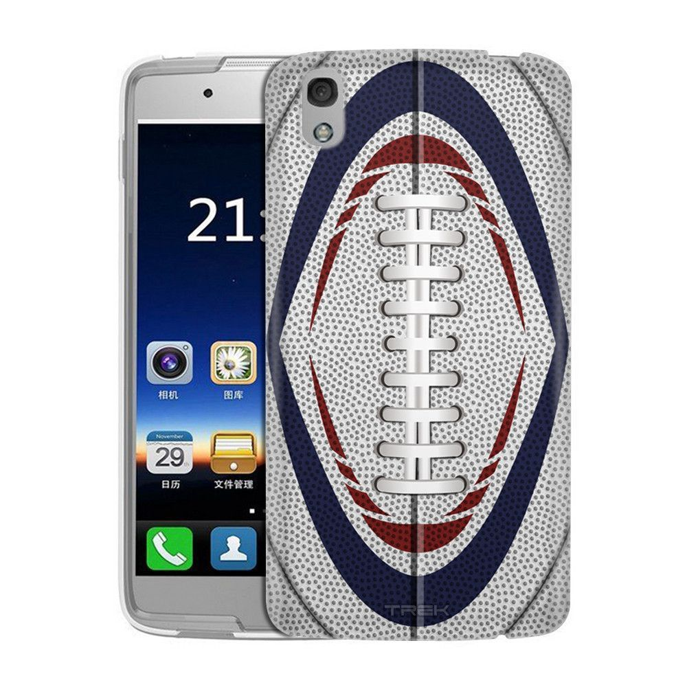 Alcatel IDOL 4S Football Laces Red White and Blue Slim Case
