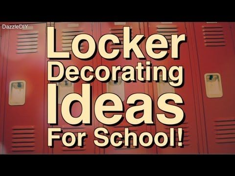 Locker Decorating Ideas!   Locker Tours   YouTube