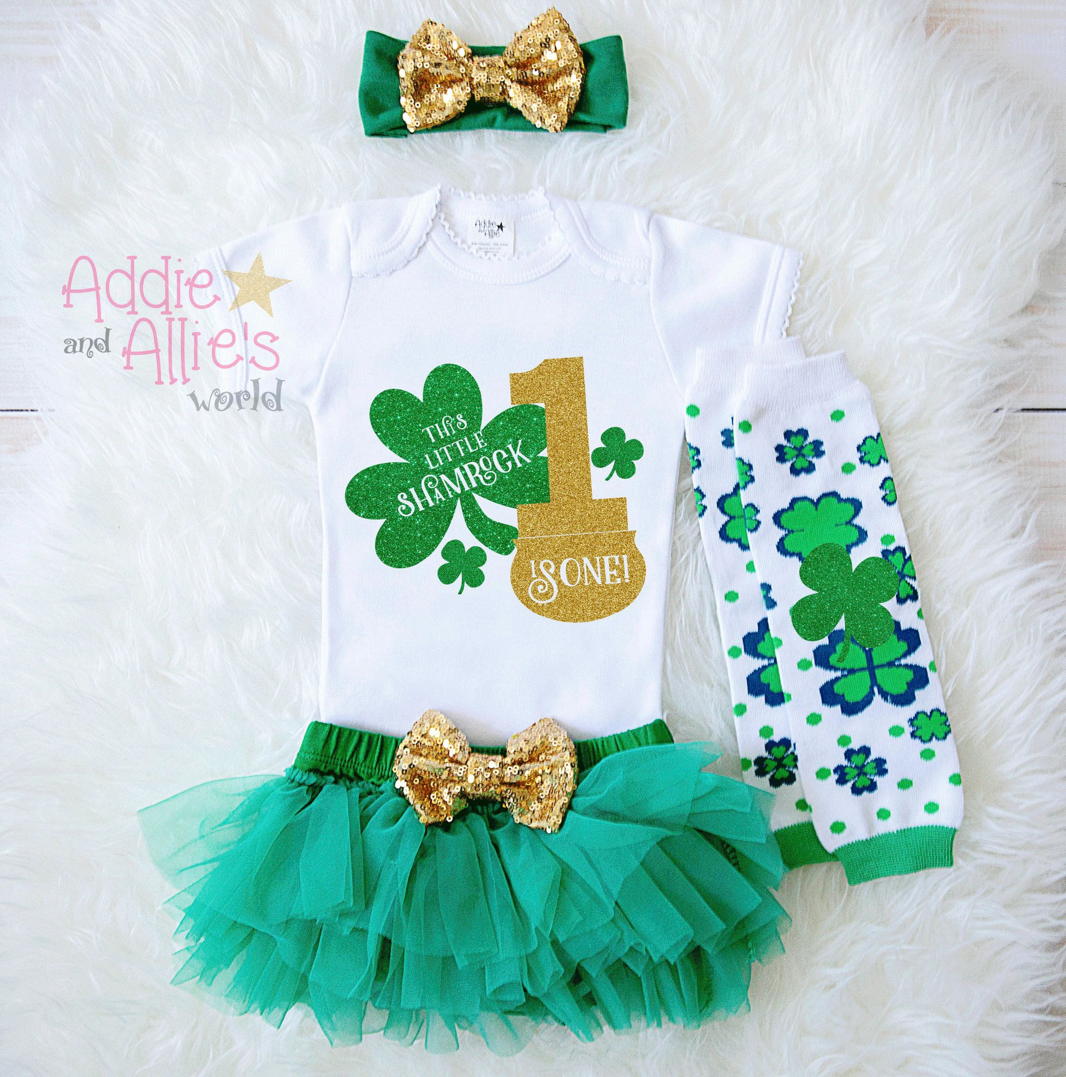 My First Birthday Outfit St Patrick s Day Outfit Baby Girl My 1st
