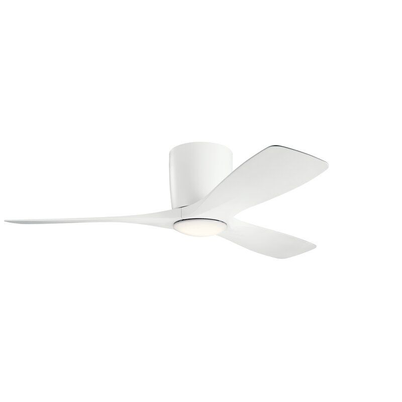 48 Mcgrew 3 Blade Led Standard Ceiling Fan With Wall Control And Light Kit Included In 2020 Led Ceiling Fan Ceiling Fan Ceiling Fan With Light