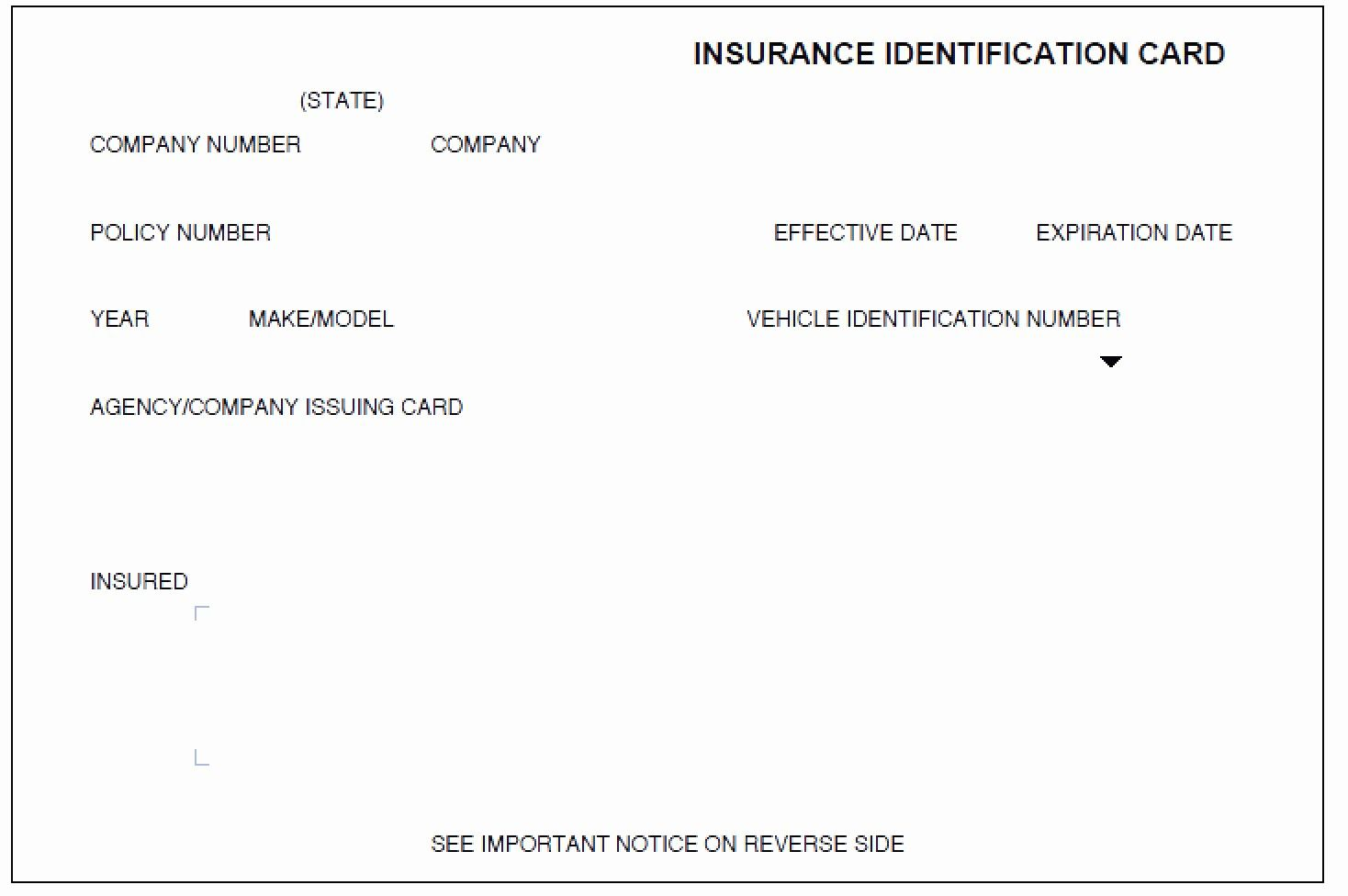 Auto Insurance Card Template Pdf New Auto Insurance Card Template