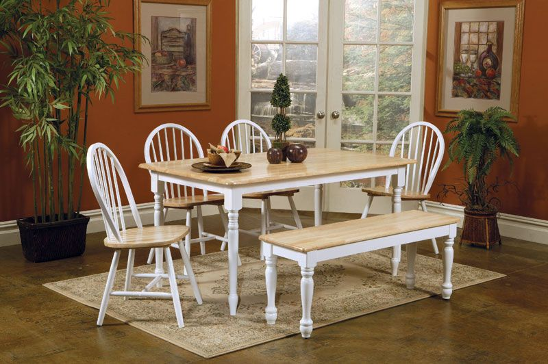 Kitchen Rustic Bench White Table And Chairs Sets