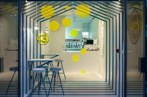 Bubble Tea Shop Interior Design Inside Cargo Container With