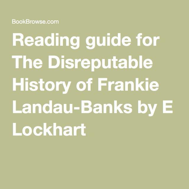 Landau-banks of pdf the disreputable history frankie