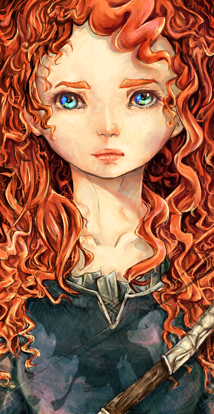 Brave by Pasuteru-Usagi on deviantART (Look closely- you can see a bear reflected in her eyes)