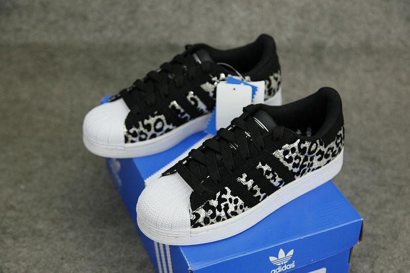 5e18cc9e70fb Adidas Originals Superstar Leopard Black White Crystal