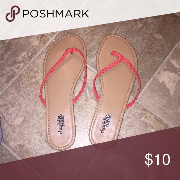 size 7 charolette Russe flip flops! never been worn! brand new just took off the tag and sticker! Charlotte Russe Shoes Slippers